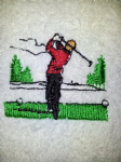 GOLFER PERSONALISED TOWEL SET